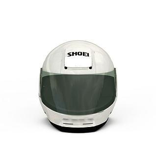摩托车头盔3d模型