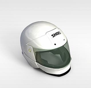 3d摩托车头盔模型