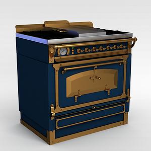 3d歐式舊式<font class='myIsRed'>烤箱</font>模型