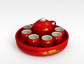 3d中式<font class='myIsRed'>新年</font>茶具模型