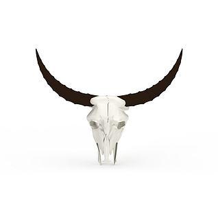 牛头骷髅3d模型