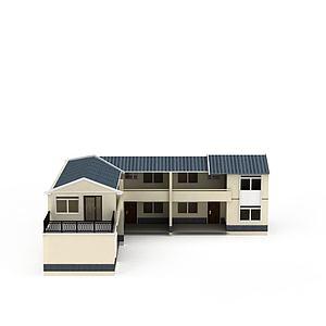 3d莊園別墅模型