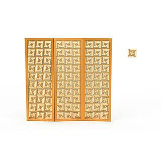 金色屏风3d模型