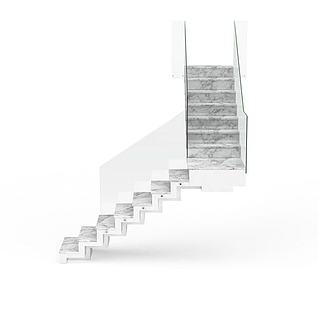 石灰楼梯3d模型