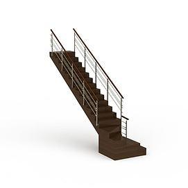 3d现代<font class='myIsRed'>楼梯</font>模型