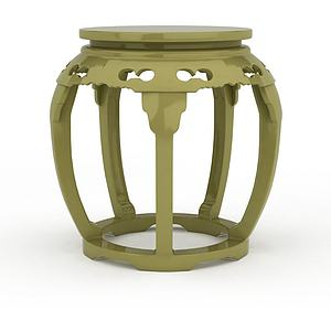简约鼓凳模型3d模型