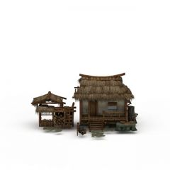 茅草屋模型3d模型