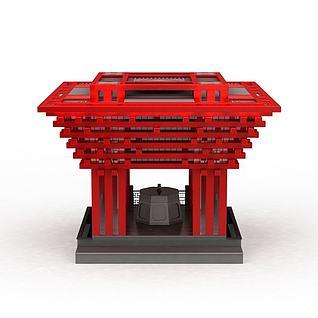 中国馆3d模型