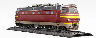 3d<font class='myIsRed'>紅色</font>火車模型