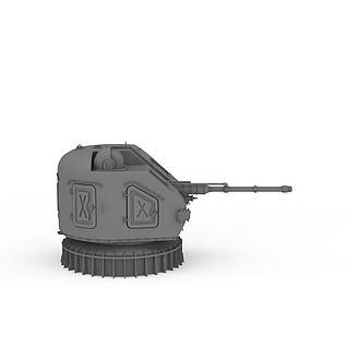 AK-176舰炮3d模型