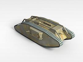 3d老式<font class='myIsRed'>坦克</font>模型