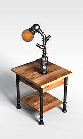 3d课桌台灯模型