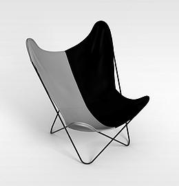 3d海边折叠椅子模型