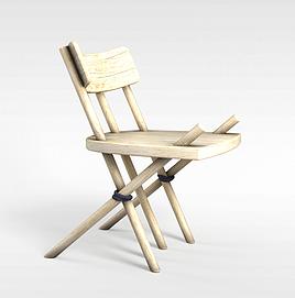进口折叠椅子3d模型