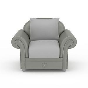 3d灰色<font class='myIsRed'>美式沙发</font>模型