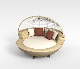 3d圆形沙发模型
