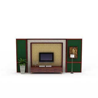电视背景墙3d模型