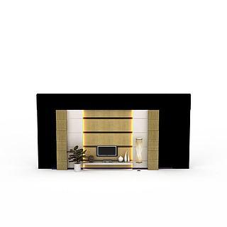 电视机背景墙3d模型