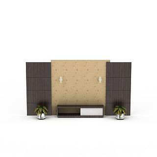 简约背景墙3d模型