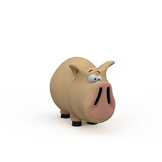 儿童玩具猪3d模型