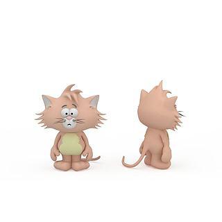 儿童玩具猫3d模型