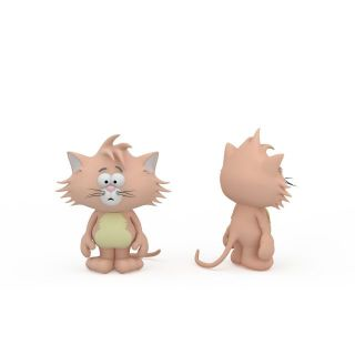 <font class='myIsRed'>儿童玩具</font>猫3d模型