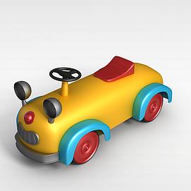 3d儿童玩具小车模型
