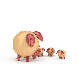 3d儿童玩具<font class='myIsRed'>猪</font>模型
