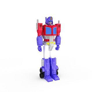 儿童玩具变形金刚3d模型3d模型