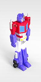 3d儿童玩具变形金刚模型