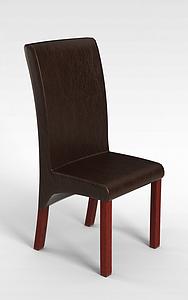 3d高背椅子模型
