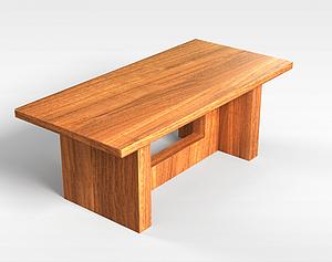 3d木质餐桌模型