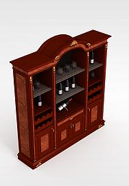 3d红<font class='myIsRed'>酒柜</font>子模型