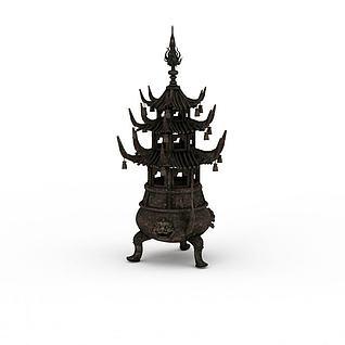 香炉3d模型