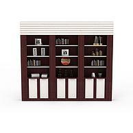 书房柜子3D模型3d模型
