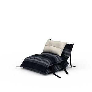 3d休閑躺椅模型