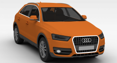 奥迪汽车模型3d模型