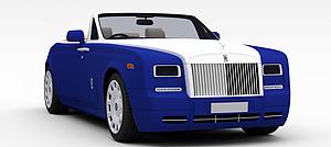 蓝色跑车模型