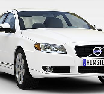 现代时尚白色轿车