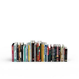 英文书籍3d模型