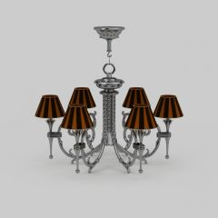 现代风格水晶吊灯模型3d模型