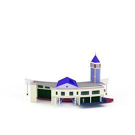 3d欧式别墅模型