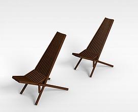 折叠椅子3d模型