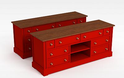 3d<font class='myIsRed'>紅色</font>壁柜模型