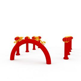 节日充气拱门3d模型