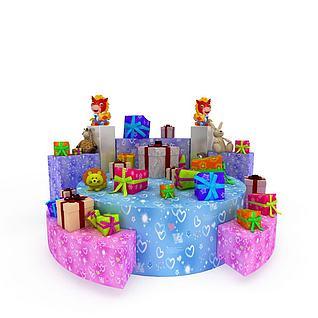 节日礼物3d模型