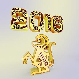 2016猴年素材3d模型