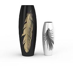 陶瓷花瓶组合模型3d模型