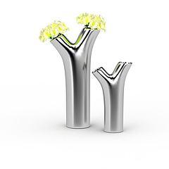 创意金属插花瓶模型3d模型