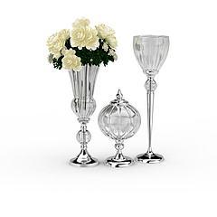 客厅玻璃器皿模型3d模型